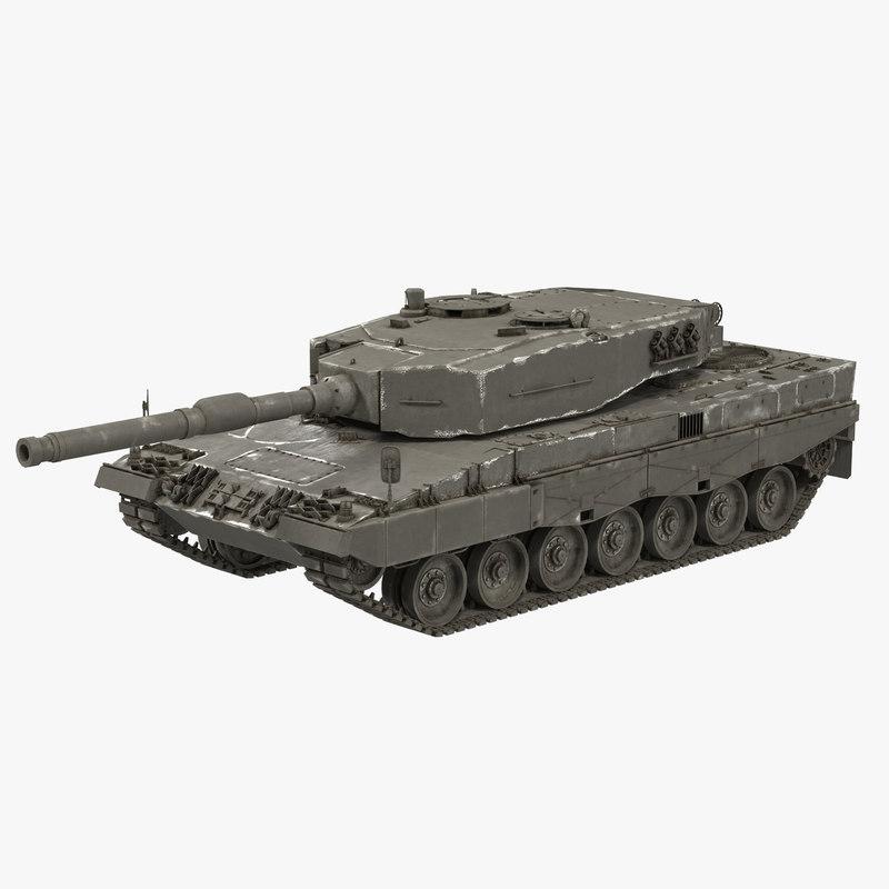 leopard 2a4 3d c4d