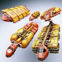 cargo ships 3d 3ds