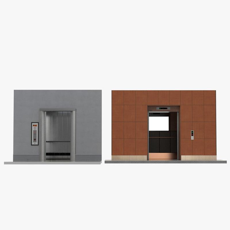 lift interiors modeled build 3d c4d