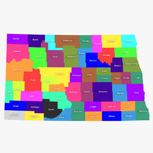 3d model north dakota counties