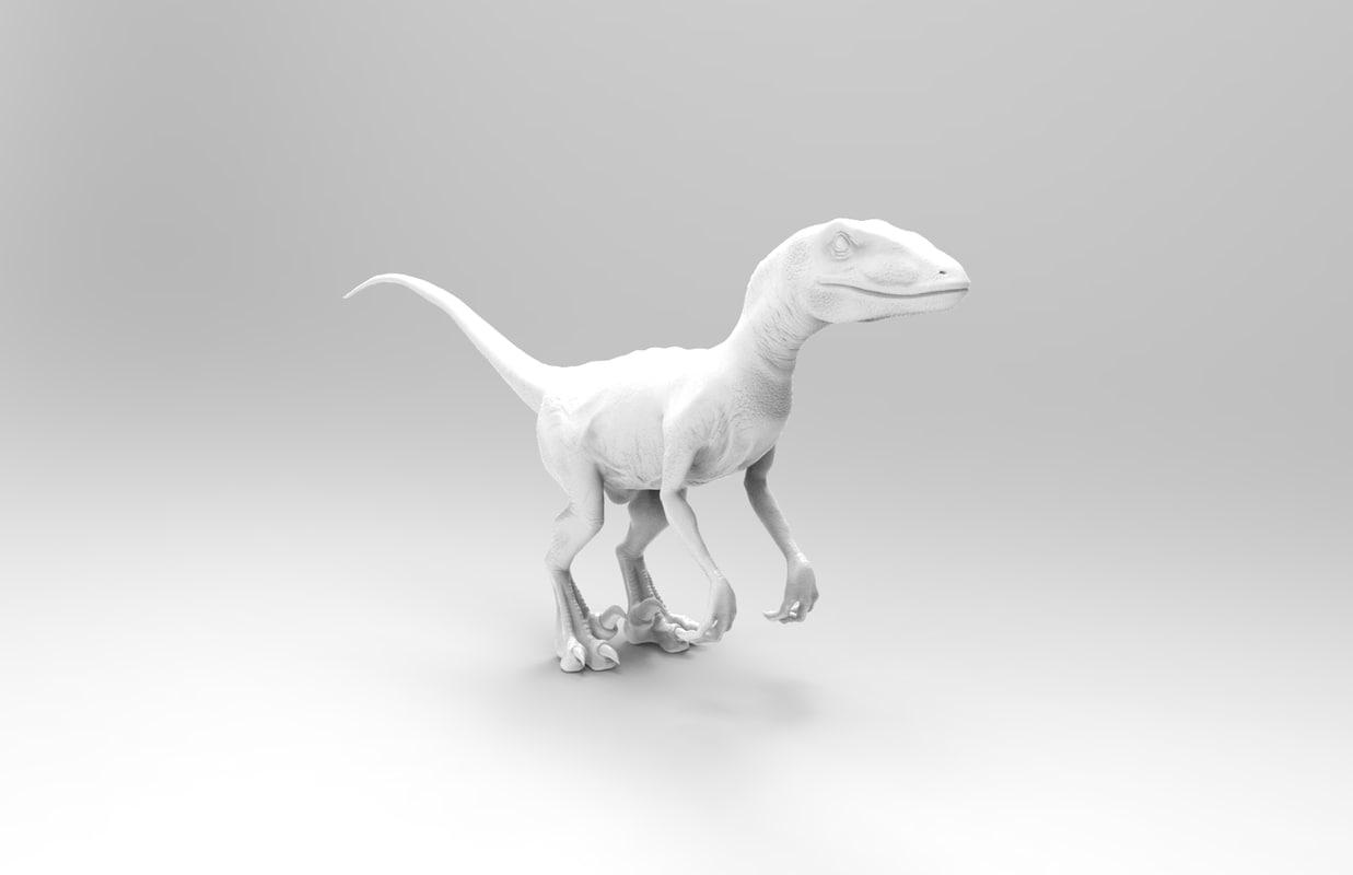 raptor print ready 3ds