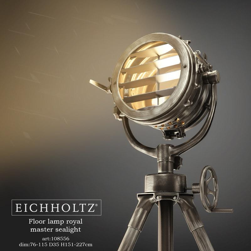 3d eichholtz floor lamp royal model