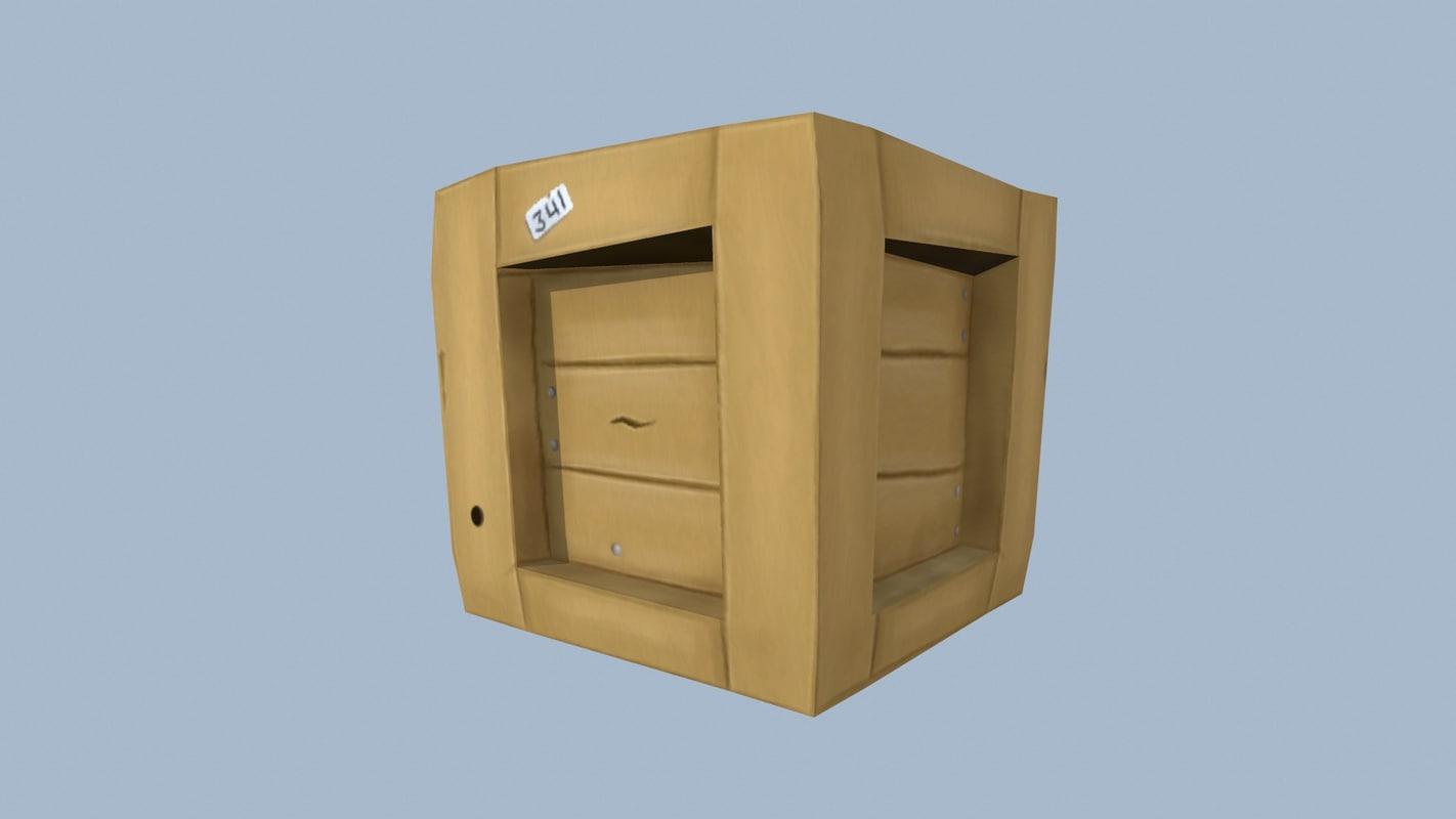3d box model