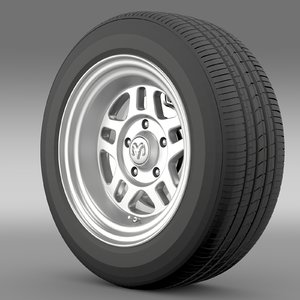 dodge challenger mopar wheel 3d model