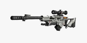 3dsmax sci fi rifle