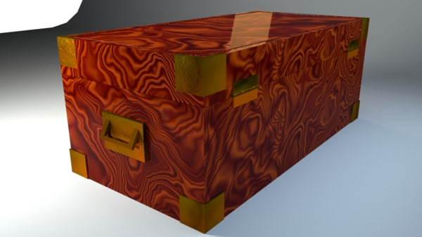 3d art deco antique wooden model
