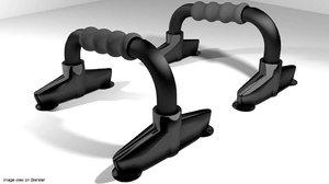 3d exercise push-up equipment model