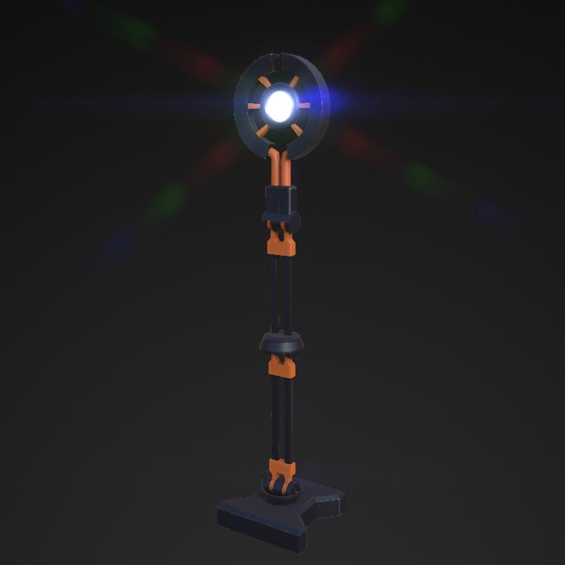 3d model sci-fi lamp