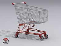 shopping cart 3d obj