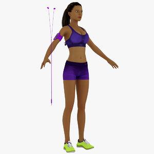 girl female woman 3d model