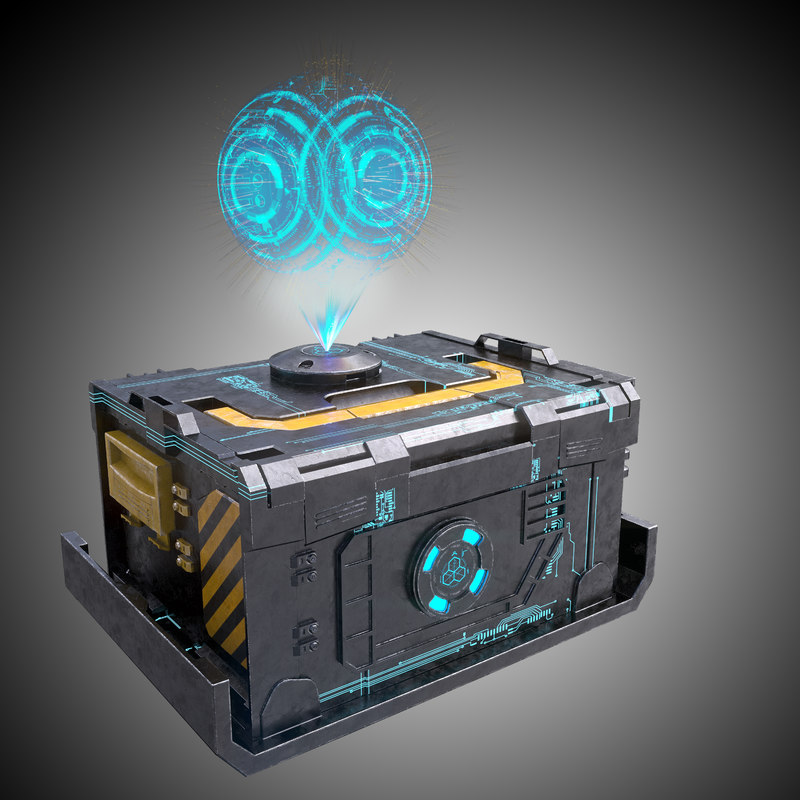 3d model of futuristic crate