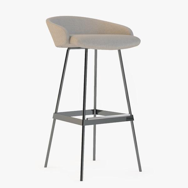 karl bar stool 3d model