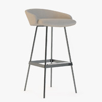 karl bar stool 3d model