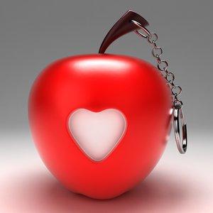 apple toy key chain 3d max