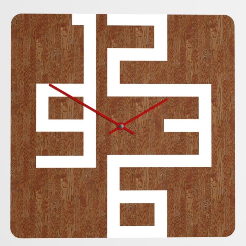 wood wall clock 3d max