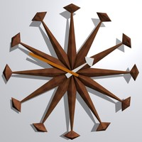 wooden wall clock 3ds