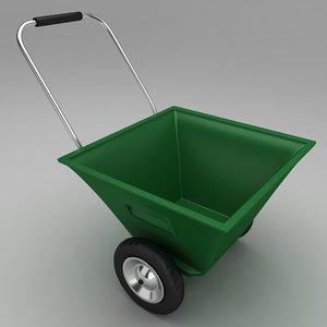 3d model of garden wheel barrow