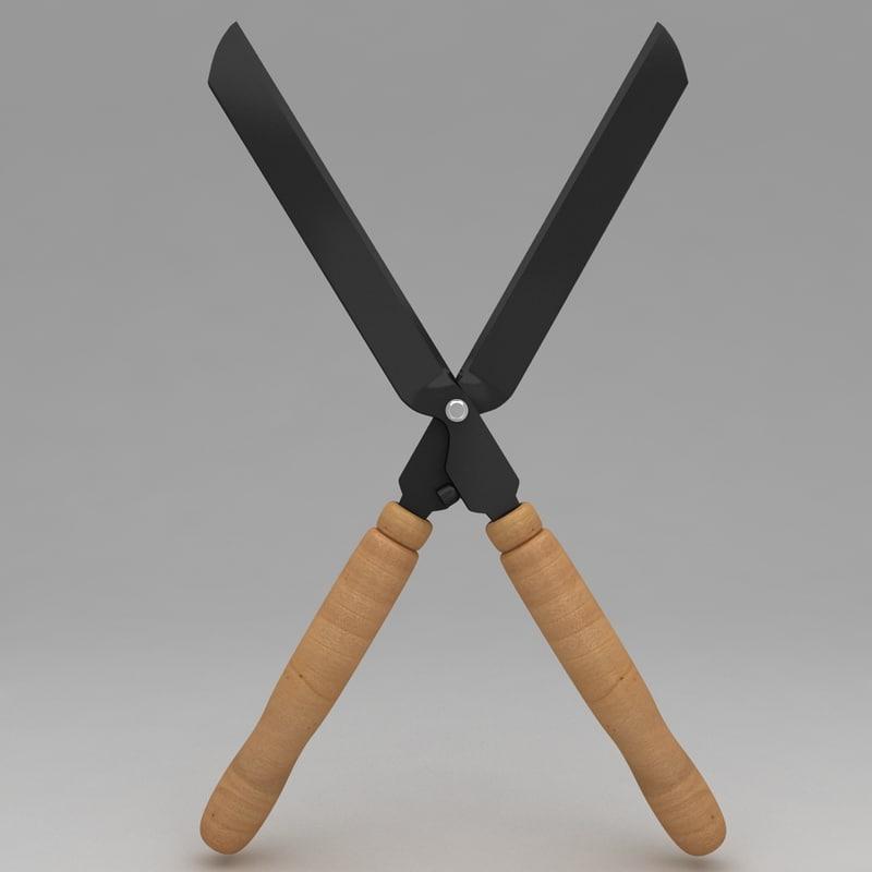 Garden scissor tool 3d max for Garden design 3d tools
