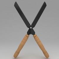 garden scissor tool 3d max