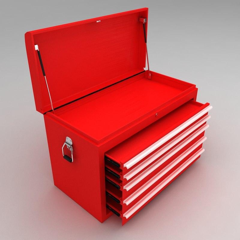 tool box sliding racks 3d obj