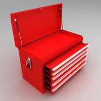 Tool box with sliding racks