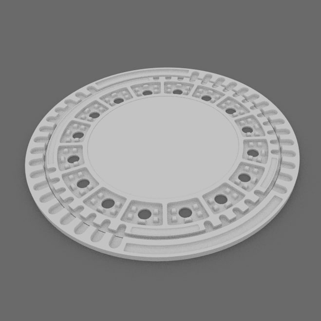 3d manhole cover model