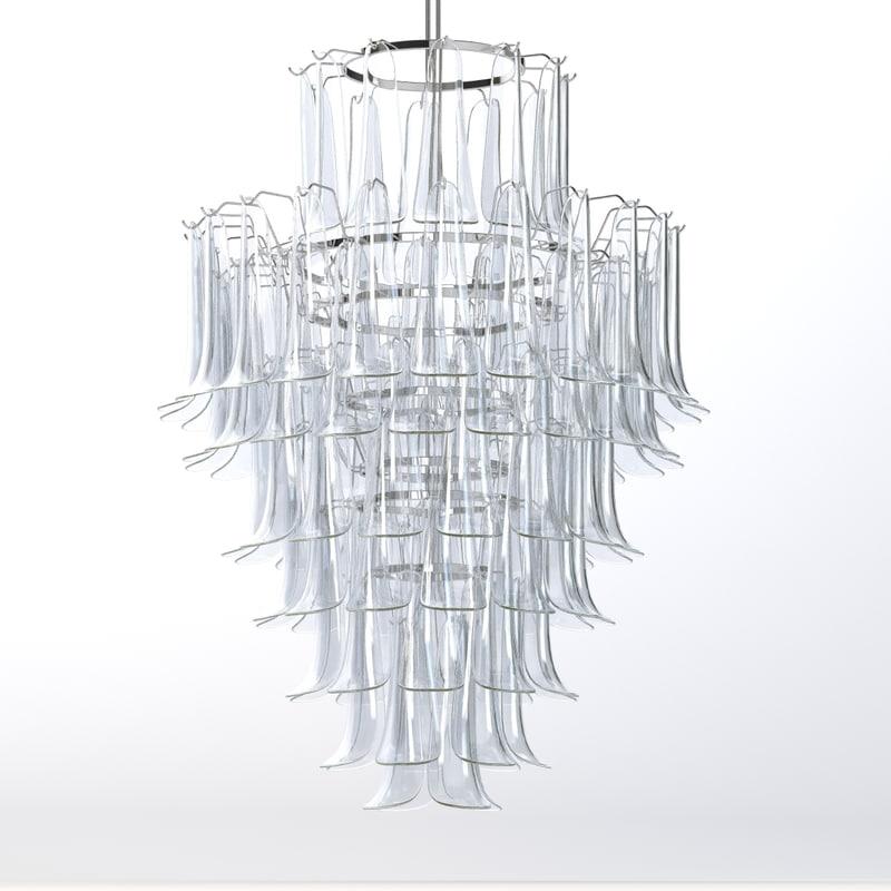 3d model mazzega chandelier