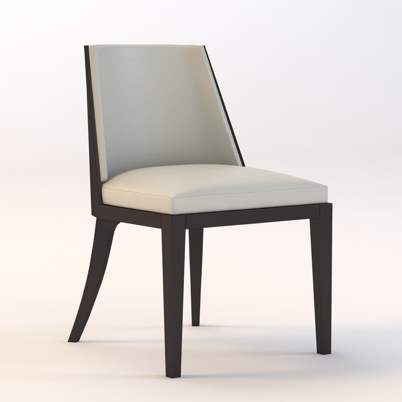 3d model crescent chair