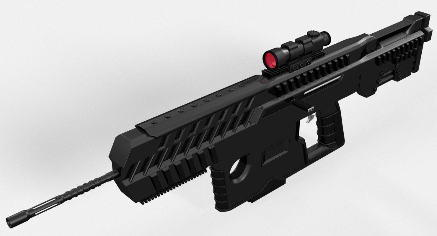 conceptual assault rifle 3ds