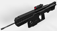 conceptual assault rifle 3ds