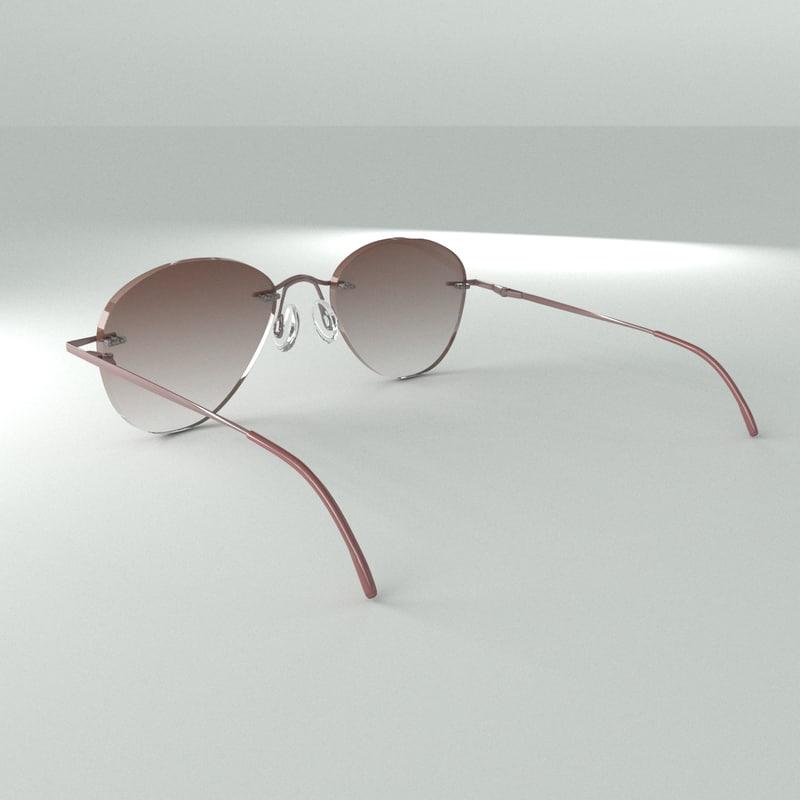 3d glasses sun sunglasses model