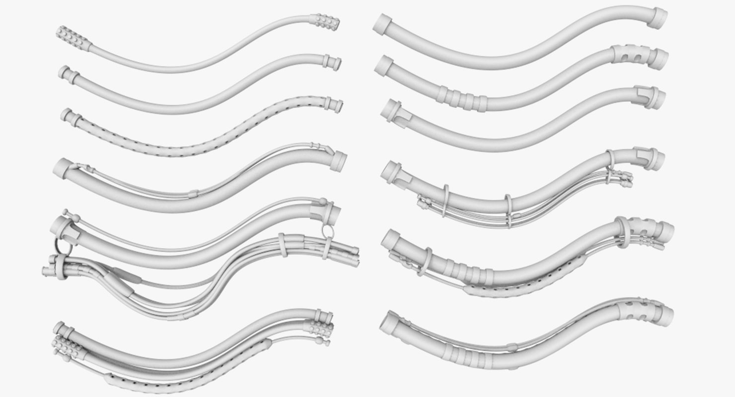 3ds max cables parts mechanical