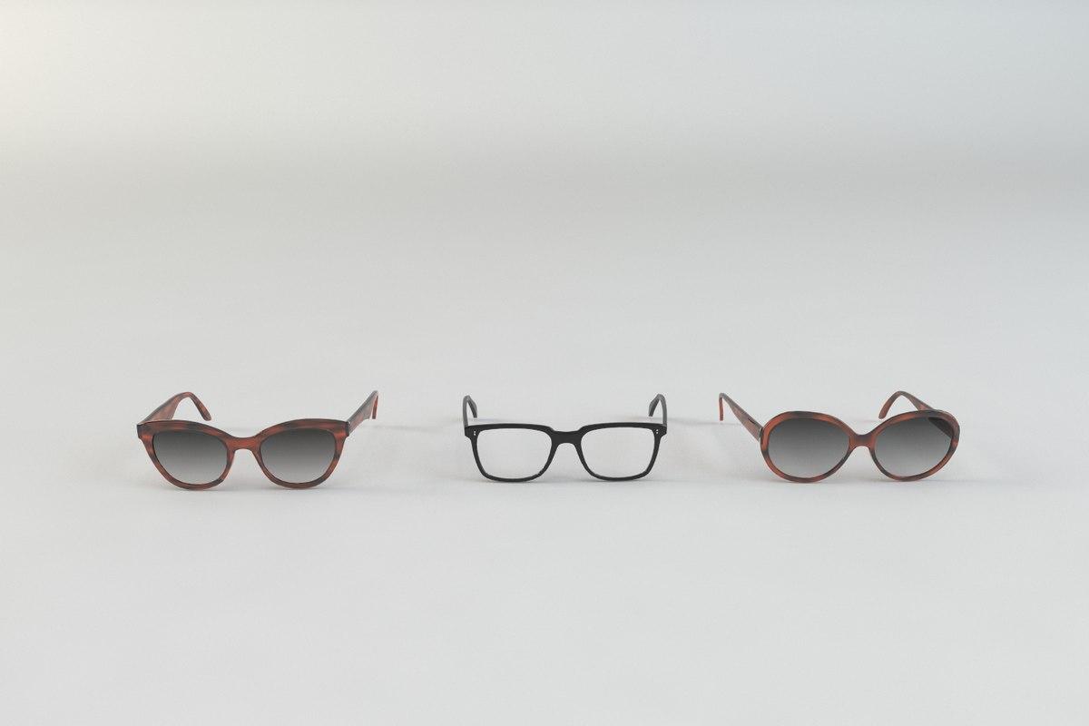 sun glass sunglasses 3d model