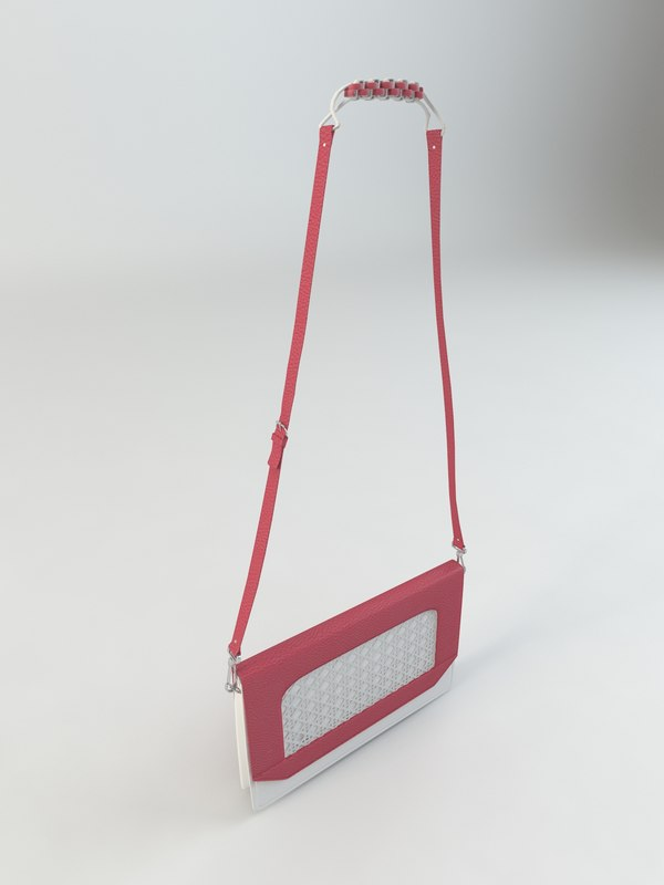 3d model of ladies designer handbag