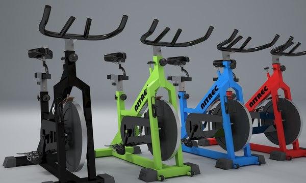 realistic nitrec indoor bike 3d model