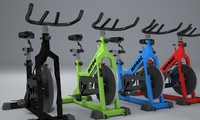 realistic nitrec indoor bike 3d model