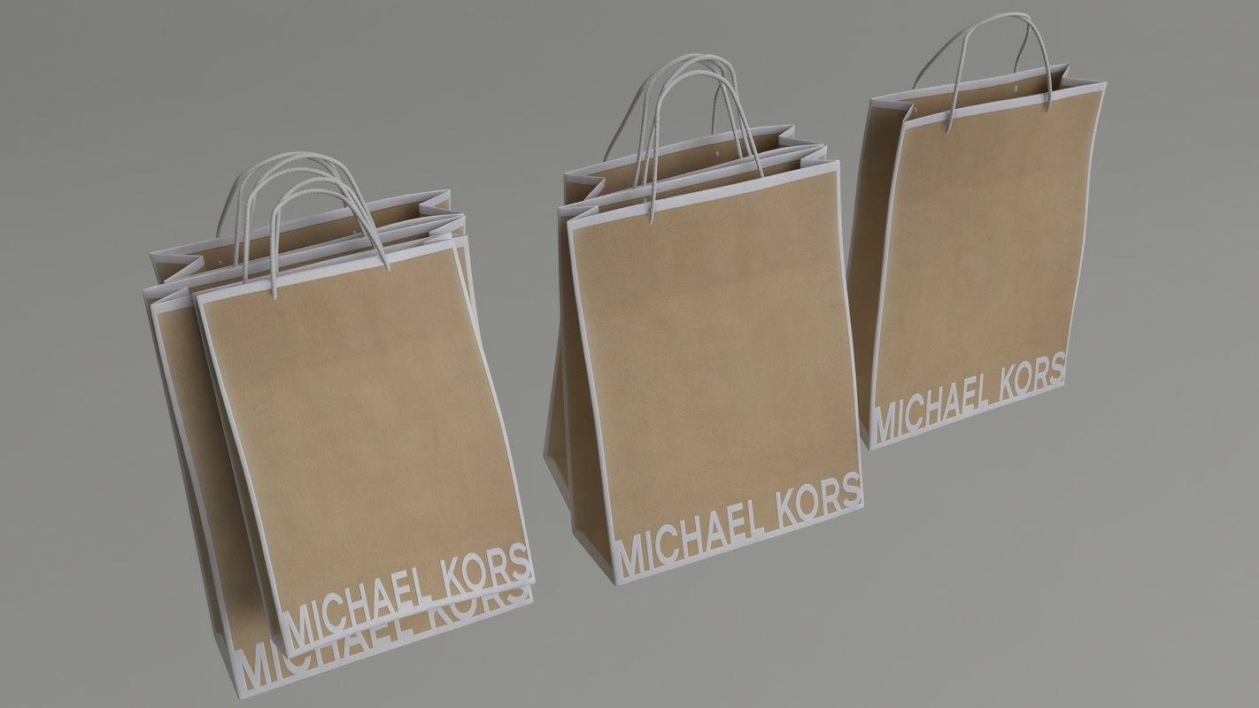 3d michael kors shopping bags