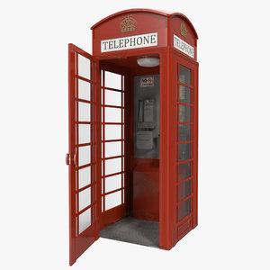 max british red telephone box