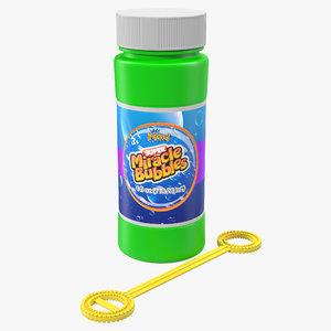 bubbles bottle wand 3d model