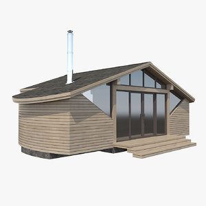 3dsmax wooden house