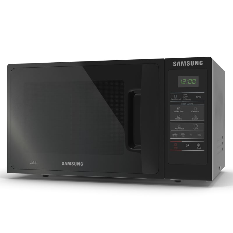 3d model microwave oven 3 samsung