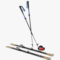Equipment for Skiing 3D Models Collection