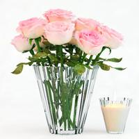 3d obj pink roses