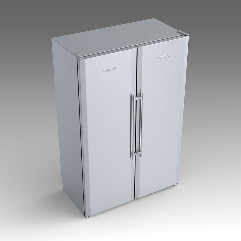 3d fbx liebherr sbsesf 7212 fridge