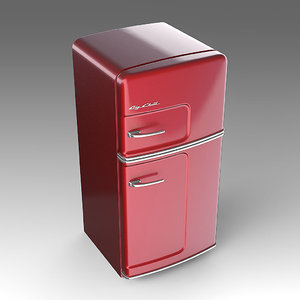 big chill refrigerator 3d fbx