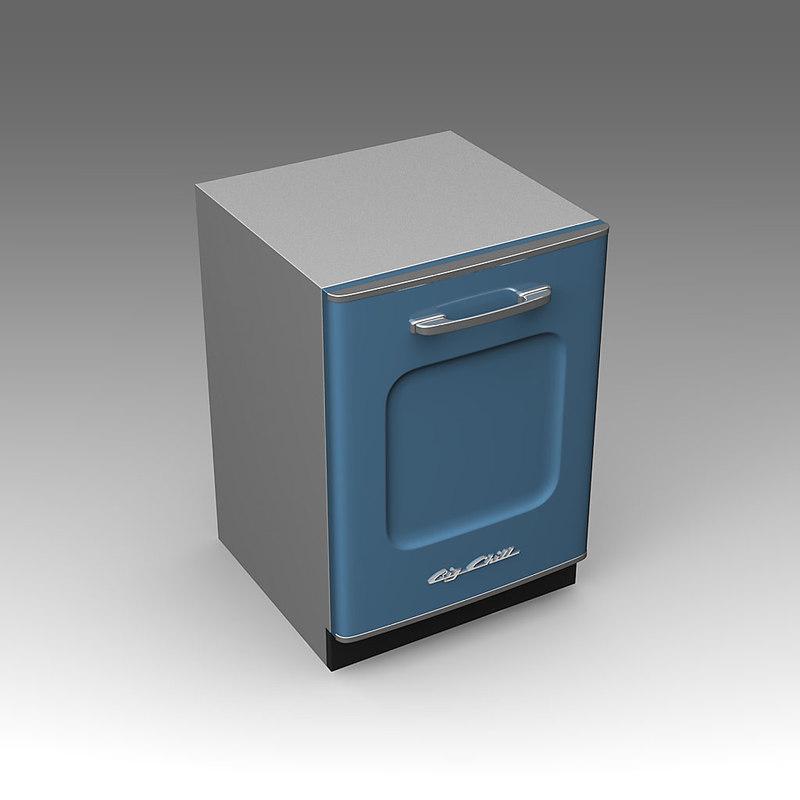 big chill dishwasher 3d x