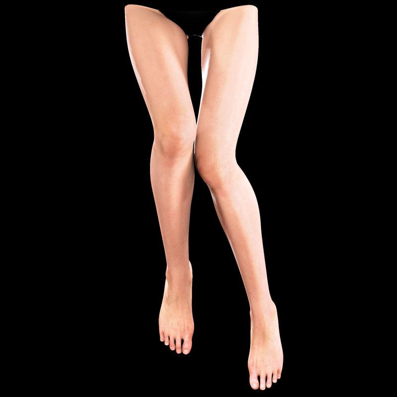 3d female legs
