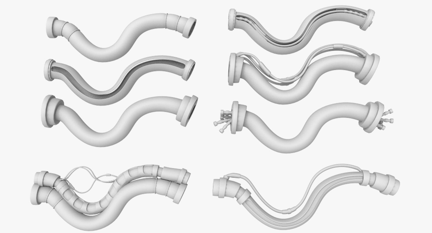 3d model tubes parts mechanical