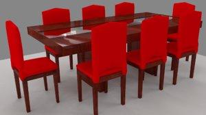 table chair obj