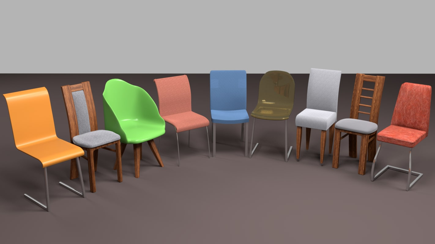 chairs interior 3d model